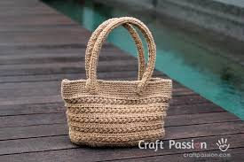 crochet pattern using star stitch star stitch tote free crochet pattern jute twine jute and twine