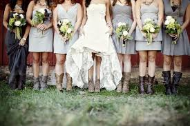 styling bridesmaids in cowboy boots the celebration society