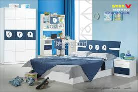 kids bedroom furniture sets for boys pull bed using blue covered