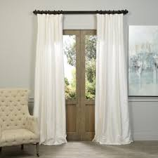 In The White Room With Black Curtains Drapes U0026 Valance Sets You U0027ll Love Wayfair