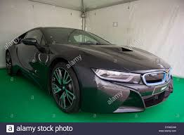 Bmw I8 Doors - 2014 black bmw i8 hybrid 2 door gullwing sports coupe stock photo