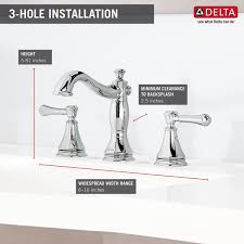 Bathtub Faucet Height Standard 3597lf Mpu Two Handle Widespread Lavatory Faucet