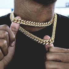 link choker necklace images Diamond cuban link choker 10mm in yellow gold ogold jpg