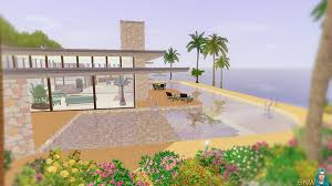 Sims Freeplay Beach House by Mid Century Beach House Wip Snw Simsnetwork Com