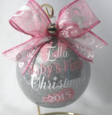 personalized ornaments for baby 7ft pre lit tree