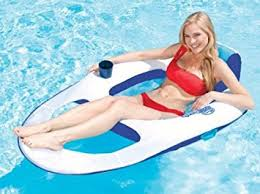 Floating Pool Lounge Chairs Amazon Com Swimways Spring Float Mesh Recliner Floating Swimming