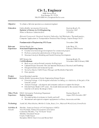 Sample Resume Objectives For Industrial Jobs by Engineering Civil Engineering Resume Objective