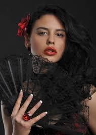 black lace fan flamenco dancer black lace fan ebay