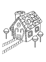 free gingerbread house coloring pages kids coloringstar