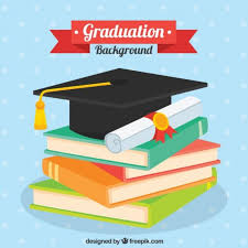 graduation books free vector dotted background with books and graduation elements