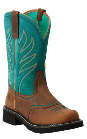 ariats womens boots nz ariat probaby s distressed brown w turquoise top