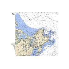 Shower Curtain World Map Custom Map U0026 Nautical Chart Shower Curtain U2014 Not For Navigation