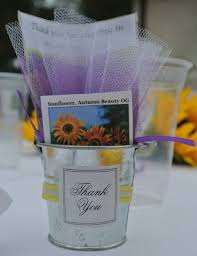 sunflower seed wedding favors seed packet wedding favors