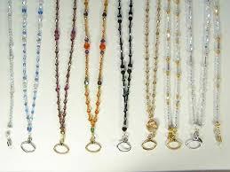 swarovski necklace design images Id holder necklace badge hanger swarovski crystal handmade jpg