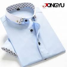 shirt 2017 summer brand shirt mens slim fit stylish casual shirt
