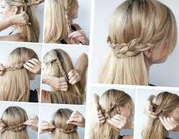 Festliche Frisuren Zum Selber Machen Kurze Haar by Schnelle Und Einfache Frisuren Halboffene Idee Aus Flechtzöpfen