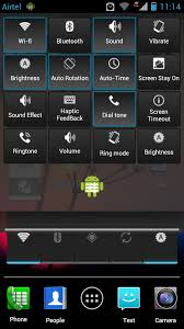 phone settings android get android 4 2 like settings in notification panel in your