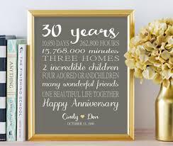 30 anniversary gift 30th anniversary gifts personalized gift 30 years wedding