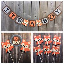 it u0027s a boy fox banner fox shower banner fox themed baby shower