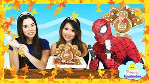 spiderman thanksgiving thanksgiving turkey gingerbread diy for kids spiderman decorates