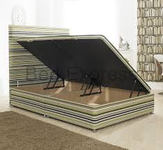 4ft Ottoman Storage Beds by Luxury Ottoman Divan Storage Bed Single Double King Size Black