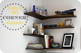 diy hanging corner shelves
