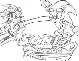 sonic free riders coloring pages imchimp me