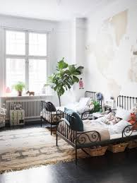 Ikea World Map Canvas by Children U0027s Room World Map Wallpaper Metal Bed Frames Radiator