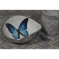 medium aluminium butterfly design oval bowl gifts from the luxe