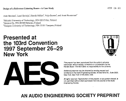 aes e library design of a reference listening room a case study