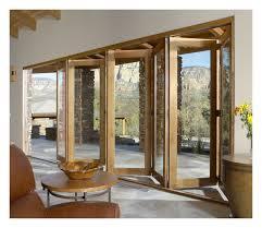 patio door sliding bifold doors fold and open in its middle part