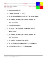 photoaltan15 algebra word problem worksheets