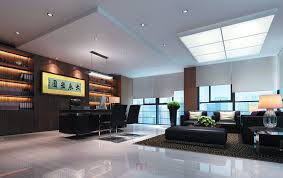 Home Office With Sofa Chinese Ceo Office With Black Furniture Download 3d House