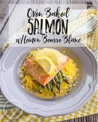 lemon beurre blanc recipe oven baked salmon asparagus spaghetti squash with lemon beurre