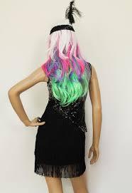 halloween costume flapper new black silver bling sequin tassel fringe dress womens