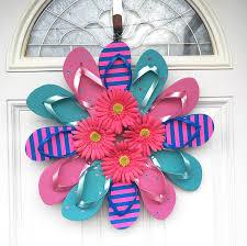 flip flop wreath flip flop wreaths for summer crafty morning