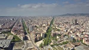barcelona city view barcelona city view on a sunny day by moovstock videohive