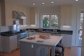 contemporary kitchen with kitchen island by trinity builders