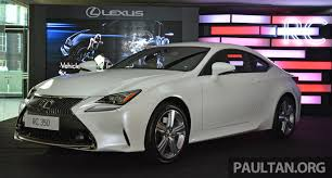 lexus coupe rc price lexus rc coupe launched in malaysia u2013 rc 350 luxury for rm526k