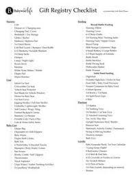 bridal registry checklist printable babywise printable downloads free baby printables babywise