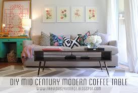 fabulously vintage diy mid century modern coffee table west elm