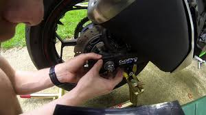 how to adjust motorcycle chain on ninja 300 youtube