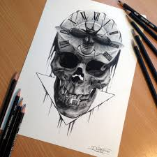12 photos of the awesome skull drawings dynamite skull drawings