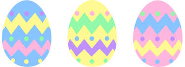 pastel easter eggs three pastel colored easter eggs free clip