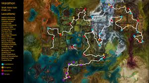 Caledon Forest Map Route Guide For All Important Waypoints Guildwars2