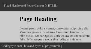html layout header content footer to create a fixed header and footer layout in html