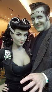 halloween archer costume rockabilly bride of frankenstein and monster submission