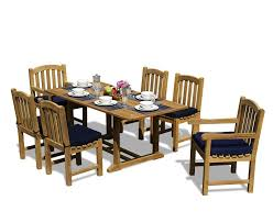 Teak Outdoor Dining Table And Chairs Teak Patio Table And Chairs