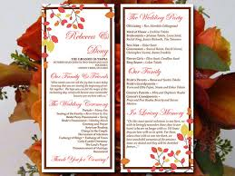 fall wedding programs 27 images of fall tea programs template kpopped