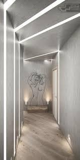 Flur Idee Wohnung Mit Grauer Einrichtung Und Natürlichen Materialien